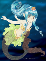 Colored Pencil Mermaid by superpower-pnut