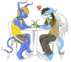 Me and Dustin on a Date by Flameydragwasp