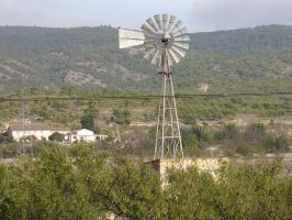 Old Windmill by cazcastalla