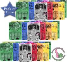 Calender Pack Of Three by Bunneahmunkeah