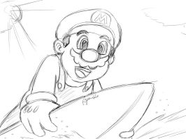 Mario surfing by Fighter4luv