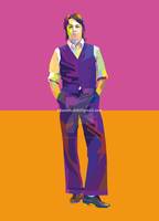 Paul McCartney in Wedha's Pop Art Portrait (WPAP) by AdamKhabibi