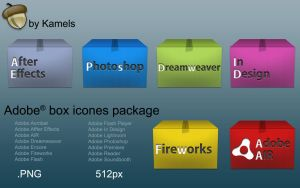 Adobe box icones by kamels