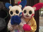 Plusle and Minun at Anthrocon by Uluri