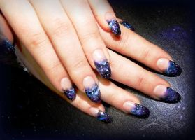 Galaxy Gel Nails by Undomiele