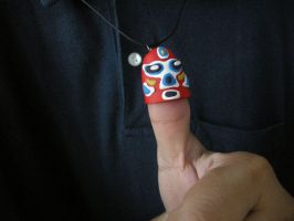 Lucha thumb mask pendant by Dinuguan