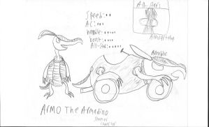 Super Oc Racing: Armo The Armadillo by Catty-Mintgum