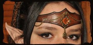 elven leather tiara by Lagueuse