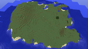 Minecraft 1.8.1 BIG survival island seed by Tryzon