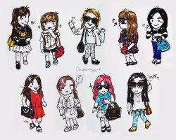 SNSD - Airport Fashion in Taiwan by babomoji