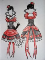 Red Queen Costume Design by Kitsune888