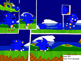 Comic #2 Sonic first SpinDash  by nintenfan96