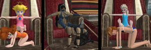 The Royal Footstools by dweebermeister
