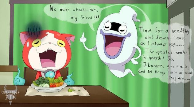 Whisper and Jibanyan- No More Choco-Bars by Zim-BringerOfDoom