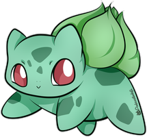 Happy Little Bulbasaur by Ambercatlucky2