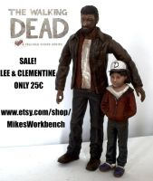 SALE The Walking Dead Lee Everett and Clementine by SomethingGerman
