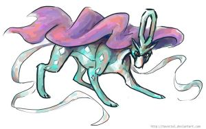 A wild suicune appeared by Tavoriel