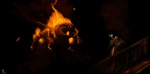 Balrog speed painting by DiegoKlein