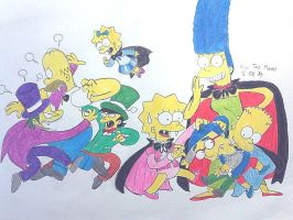 The vampire Simpson family by komi114