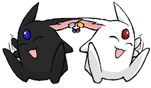 White Mokona, Black Mokona by Giraffics
