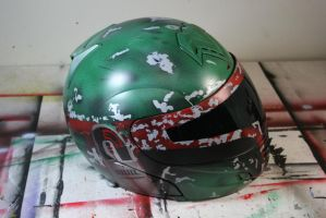 Airbrushed Helmet 2 by Spanglerart