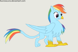 Rainbow Dash Griffon by Auroracuno