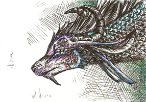 Curious Dragon ACEO by Lucky101212