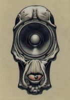 'Loudspeaker-face' by pierk