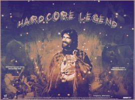 Mick Foley .. The Hardcore Legend by MhMd-Batista