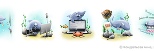 SEO sharks by i-love-icons