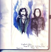 Snape and Black by SolenoeSolnce