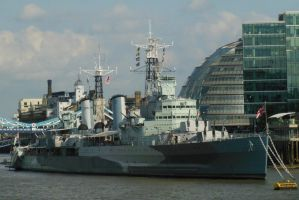 D-Day Veteran HMS Belfast by rlkitterman