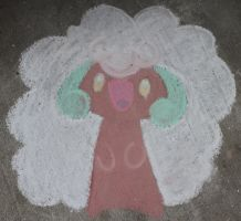 whimsicott chalk by FrozenFeather