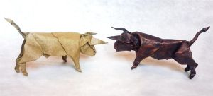 Bullfight - Origami by mitanei