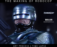 THE MAKING OF ROBOCOP | ART PROCESS VIDEO by MAiJiNTHEARTIST