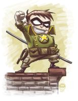 SoldierBoy - Chibi Character Art Commish by EryckWebbGraphics