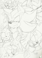 Shadow the Hedgehog: Sketch Expressions by Narcotize-Nagini