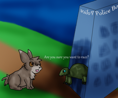 The Tardis and the Hare by DucklettsRcute