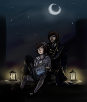 Corvo and Emily by skrillbug