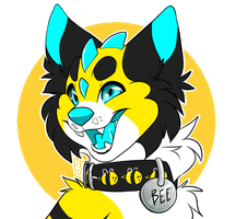 COMMISSION: bee badge by Nekoshiba