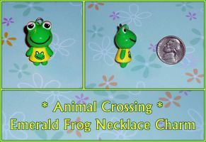 Animal Crossing - Emerald Frog Charm - Custom Made by YellerCrakka