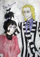 Beetlejuice and Lydia by leyna-gisselle