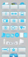Wii Style Icons PNG + PSD by gasclown