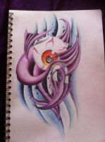 Eye ball surrounded by tails by ChelseaMerritt1995
