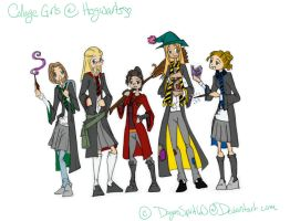 HP Collage Girls by DragonsSpirit60