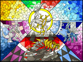The Creation Quartet: Stained Glass Mosaic by PseudoLW