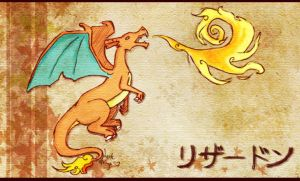 painting the .charizard. by Dark-Strings