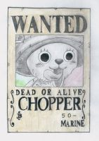 one piece wanted post, chopper by lea33