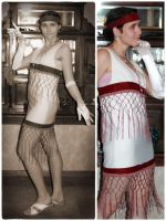 Sewing: 1920's flapper dress by Risachantag