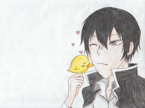 Hibari and Hibird by KyKiki